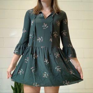 Madewell Green Floral Dress